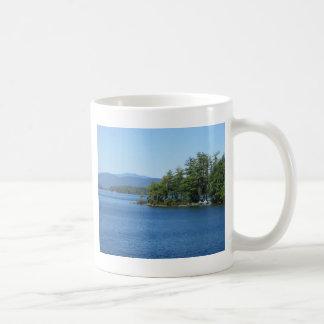 Cool Lake Island Shot Classic White Coffee Mug