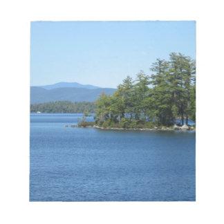 Cool Lake Island Shot Memo Pads