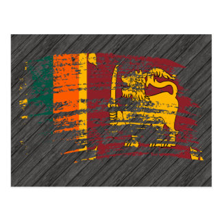 Cool Lankan flag design Postcard