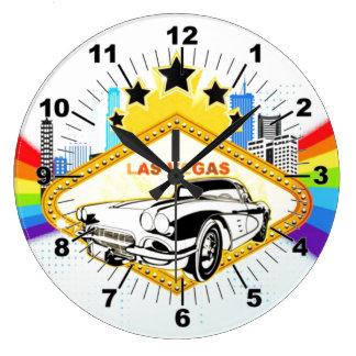 Cool Las Vegas vector  Wall Clock