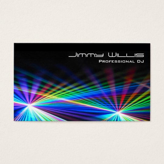 Cool Laser Light Club DJ Business Card Zazzlecom