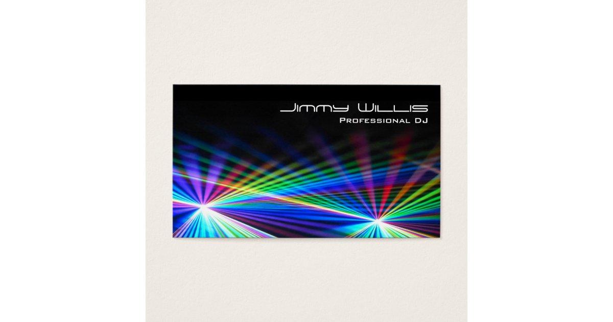 Cool Laser Light Club - DJ Business Card | Zazzle.com