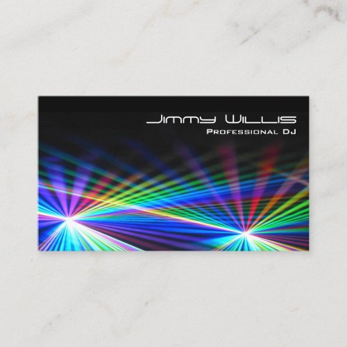 Cool Laser Light Club - DJ Business Card