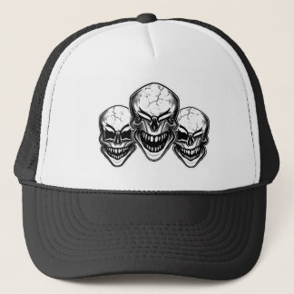 Cool Laughing Skulls Trucker Hat