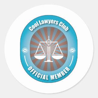 Cool Lawyers Club Classic Round Sticker