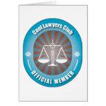 Cool Lawyers Club Greeting Card