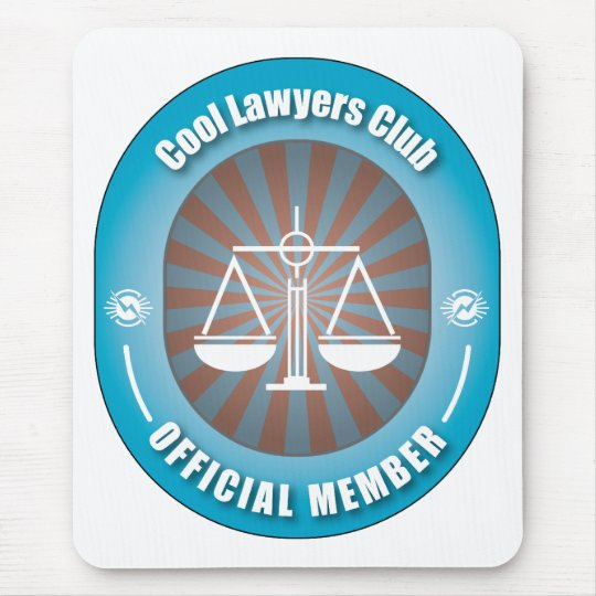 Cool Lawyers Club Mouse Pad