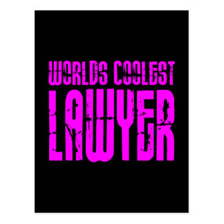 Cool Lawyers + Pink : Worlds Coolest Lawyer Postcard
