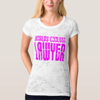 Cool Lawyers + Pink : Worlds Coolest Lawyer T-Shirt