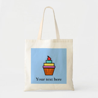Cool layered cupcake with cherry bag