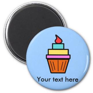 Cool layered cupcake with cherry fridge magnet