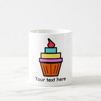Cool layered cupcake with cherry coffee mug