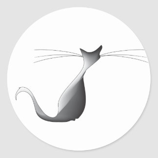 Cool Le Chat Classic Round Sticker, Glossy Classic Round Sticker