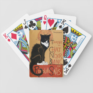 Cool Le Chat Noir et Blanc Bicycle Playing Cards