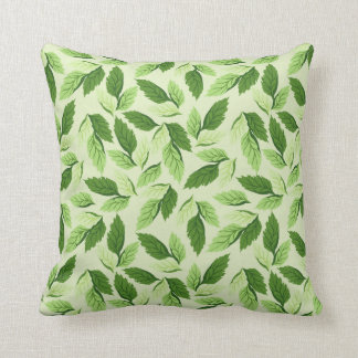 Cool leaf background throw pillow