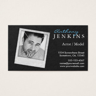 Cool Leather Frame Custom Photo Actor Business Card