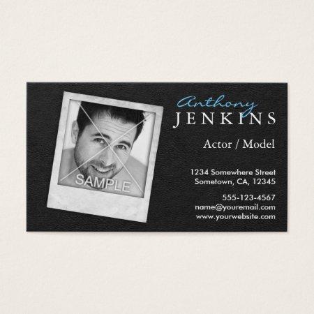 Horizontal Actor Business Cards