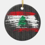 Cool Lebanese flag design Christmas Tree Ornaments