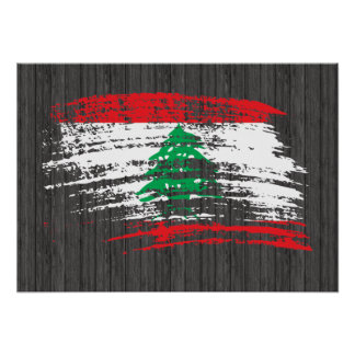 Cool Lebanese flag design Poster