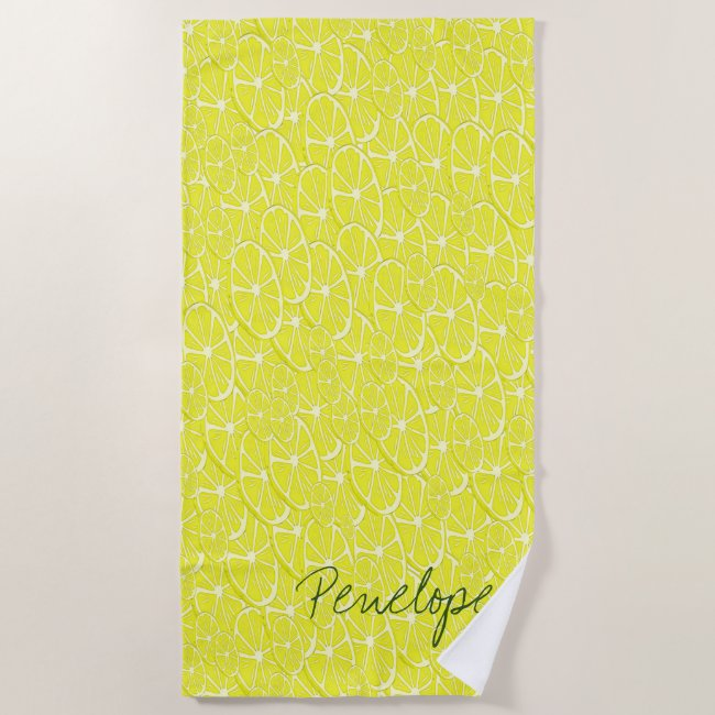 Cool Lemon Slices Pattern Signature Add Your Name