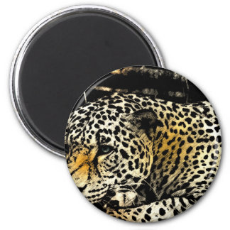 Cool Leopard Lovers 2 Inch Round Magnet