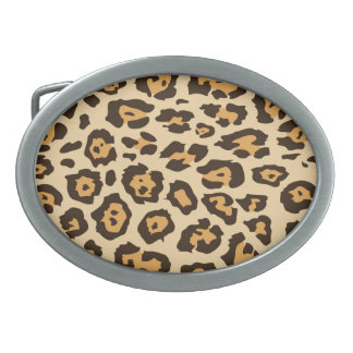 Cool Leopard Print Pattern Gifts for Her Oval Belt Buckle