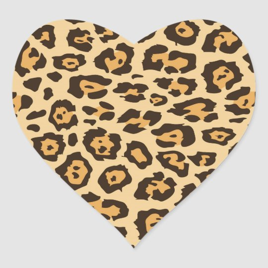 Cool Leopard Print Pattern Gifts for Her Heart Sticker