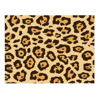 Cool Leopard Print Pattern Gifts for Her Post Card