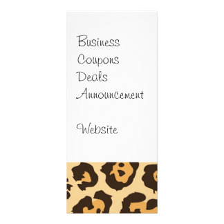 Cool Leopard Print Pattern Gifts for Her Personalized Rack Card