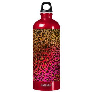 Cool Leopard print skin bright rough background Aluminum Water Bottle
