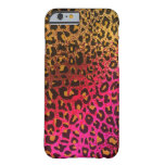Cool Leopard print skin bright rough background Barely There iPhone 6 Case