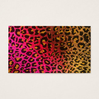 Cool Leopard print skin bright rough background Business Card