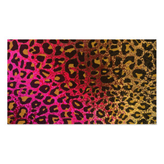 Cool Leopard print skin bright rough background Double-Sided Standard Business Cards (Pack Of 100)