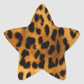 cool leopard skin effect star sticker