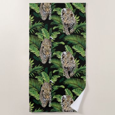 Beach Themed Cool Leopards Pattern beach towel
