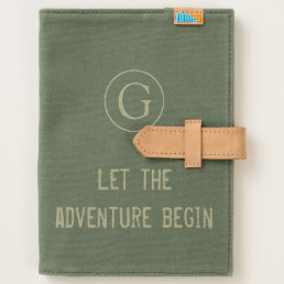 "Cool ""Let The Adventure Begin"" with Monogram Journal"