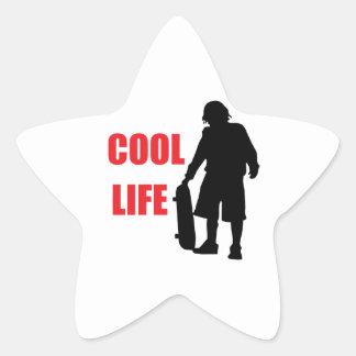 cool life star sticker