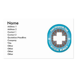 Cool Lifeguards Club Business Card Template
