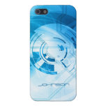 Cool Light Blue Abstract Fantasy Style iPhone 5/5S Case