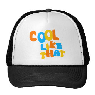 Cool Like That--Orange, Blue, And Yellow-Gold Trucker Hats