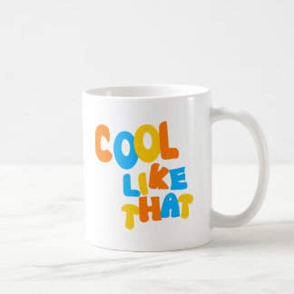 Cool Like That--Orange, Blue, And Yellow-Gold Coffee Mug
