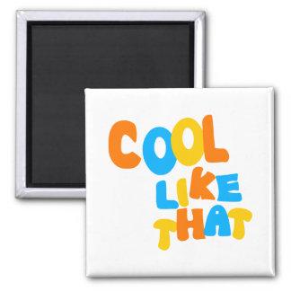 Cool Like That--Orange, Blue, And Yellow-Gold Fridge Magnet