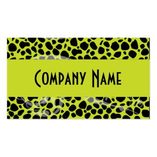 Cool Lime Green Cheetah Skin Double-Sided Standard Business Cards (Pack Of 100)