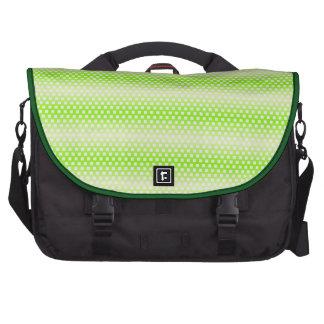 Cool Lime Green Stripe Pattern Laptop Messenger Bag