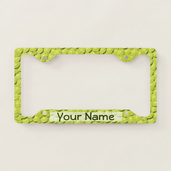 Cool Lime Slices Pattern Add Your Name