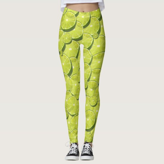 Cool Lime Slices Pattern Leggings