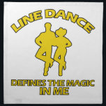 "cool Line dance designs Cloth Napkin<br><div class=""desc"">cool Line dance designs will make a lovely gift item for the awesome Line lover</div>"