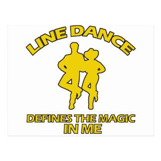 cool Line dance designs Postcard