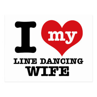 Cool Line Dancing designs Postcard