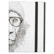 Cool lion (blackandwhite) iPad air case